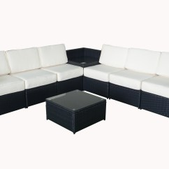 Black Outdoor Sofa Bolia Modul Tilbud Mcombo 8pcs Wicker Patio Sectional