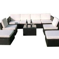 Black Outdoor Sofa Company Uk Reviews Mcombo 9pcs Wicker Patio Sectional
