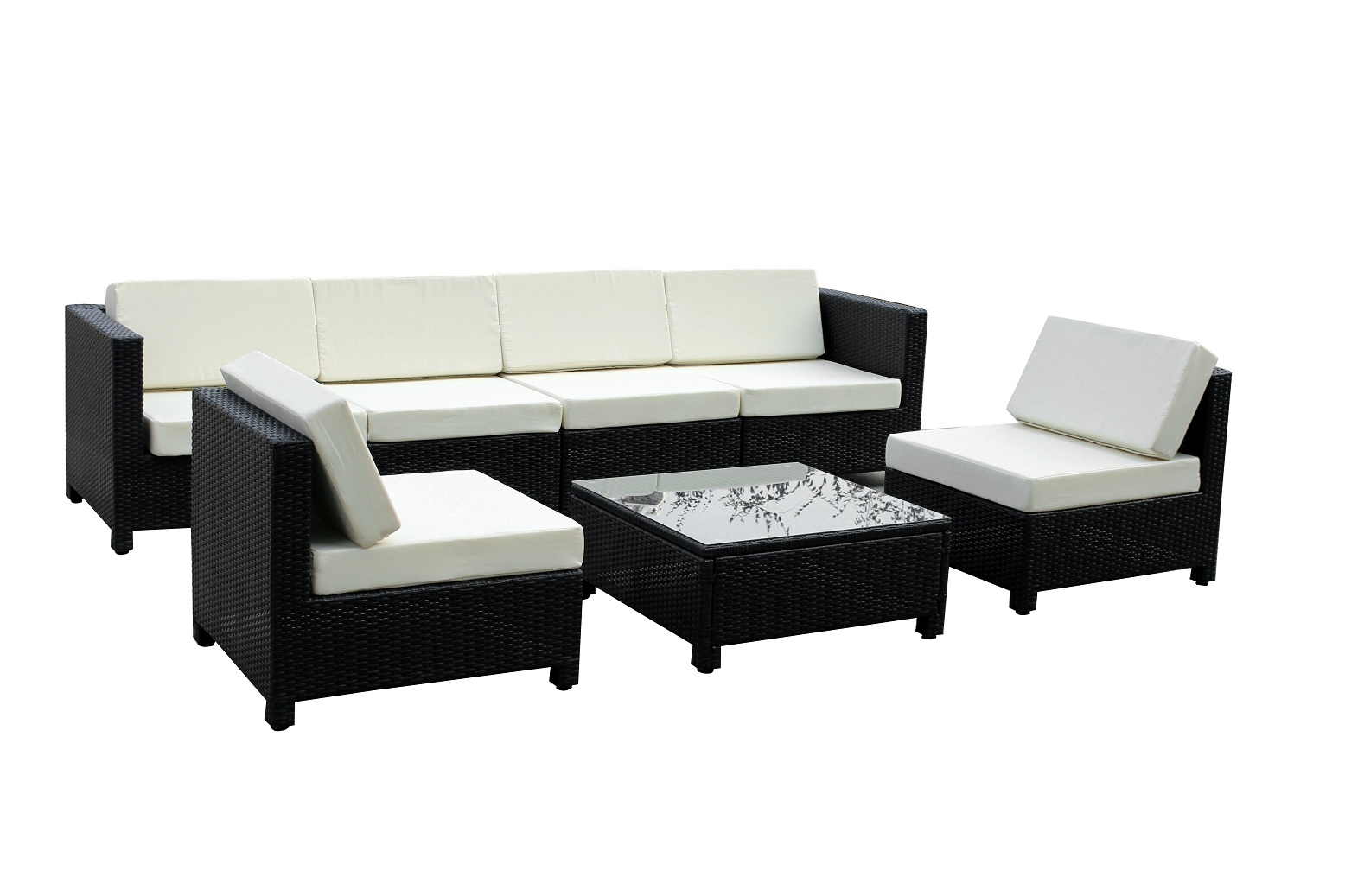 black outdoor sofa wood back mcombo 8pc wicker patio sectional