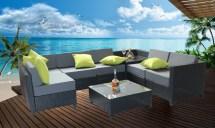 8 Pcs Luxury Wicker Patio Sectional Indoor Outdoor Sofa