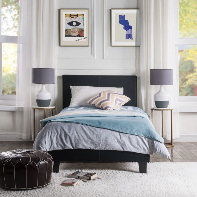 Modern Double Single Bed Frame with Headboard For Adult ...