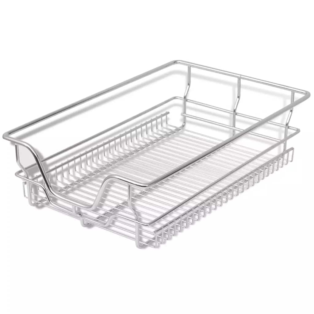 2pcs Pull Out Wire Baskets Drawers Fit 300 800mm Kitchen