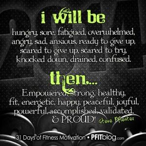 I WILL BE