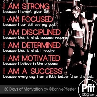 I am strong, focused & determined 2015
