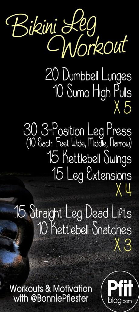 bikini leg workout