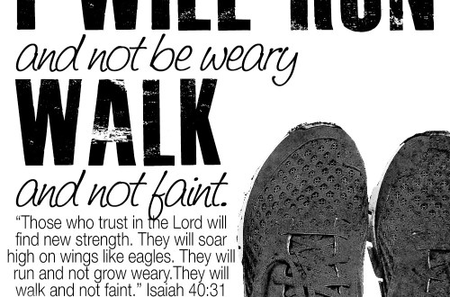run and not be weary