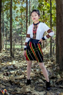Model: Vungbiaksang | posing with Paite Traditional Dress