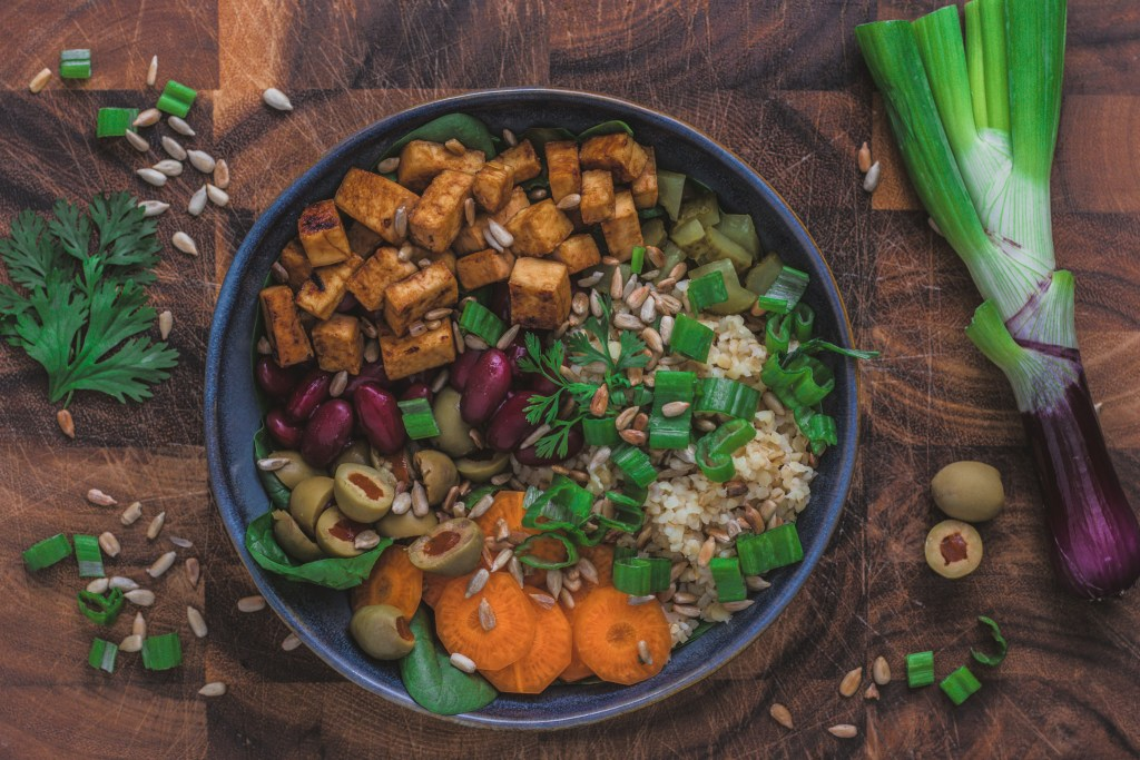 What I eat in a day - Salatbowl mit Tofu