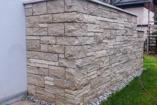 Naturstein Systemmauerwerk