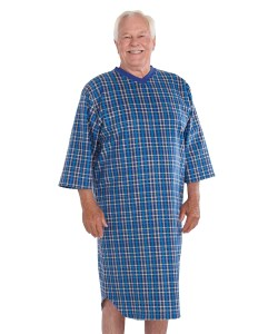 *BenT* Pflege-Nachthemd Flanell