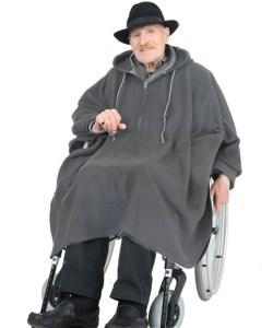 *RollyT* Fleece Rollstuhl Poncho