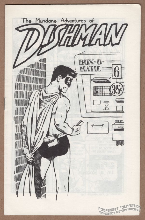 Dishman gets cash from the ATM on the cover of Dishman #6 by John MacLeod.