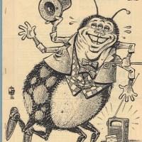 DESK SET GAZETTE #1 sf fanzine JAY KINNEY Dan Steffan ATOM comix Corflu III 1985