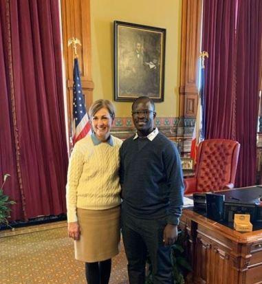 Archy with Iowa Governor Kim Reynolds