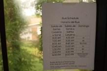 Public Bus Schedule Courtesy of Sugar Mamas Cafe