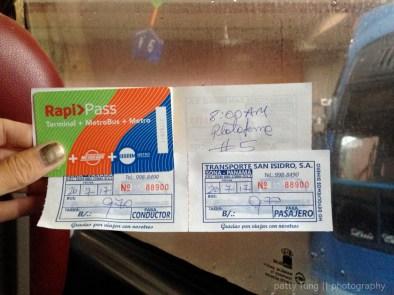 Rapi Pass Card and Santa Catalina Bus Ticket