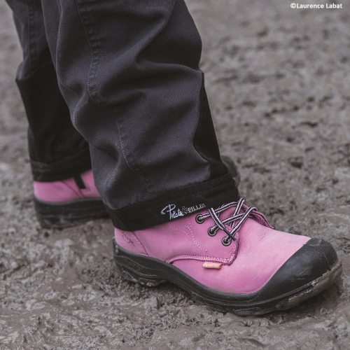 Pink Women's steel toe work boots