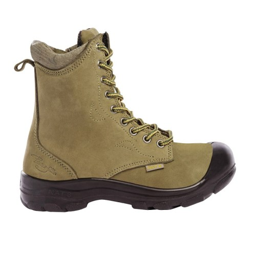 Kaki womens steel toe work boots S558