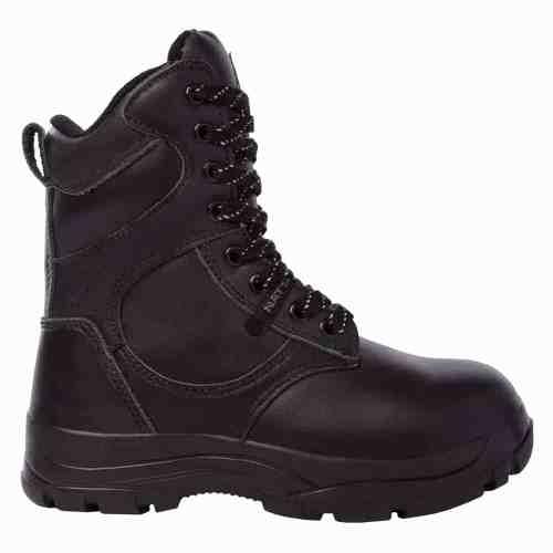 Black women's steel toe work boots