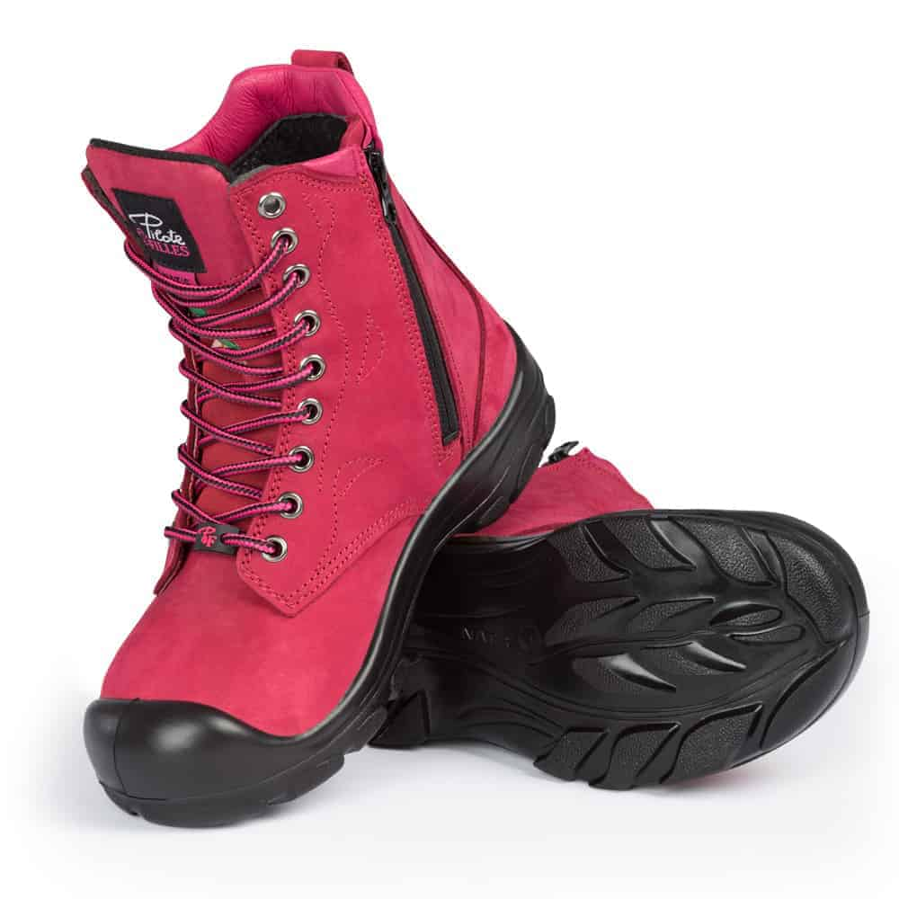 Steel toe work boots for women | With