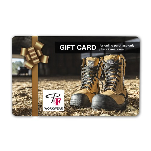 P&F Workwear Virtual Gift Card V20