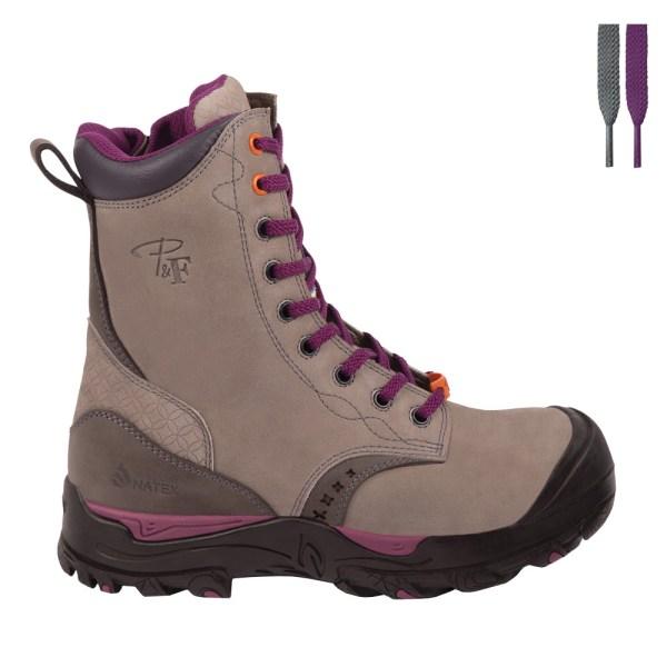Steel Toe Waterproof Work Boots for Women