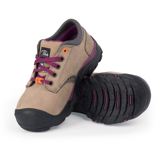 Womens steel toe safety shoes, grey colour