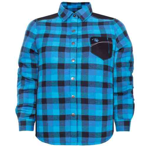 Padded plaid shirt – PF410 - Blue