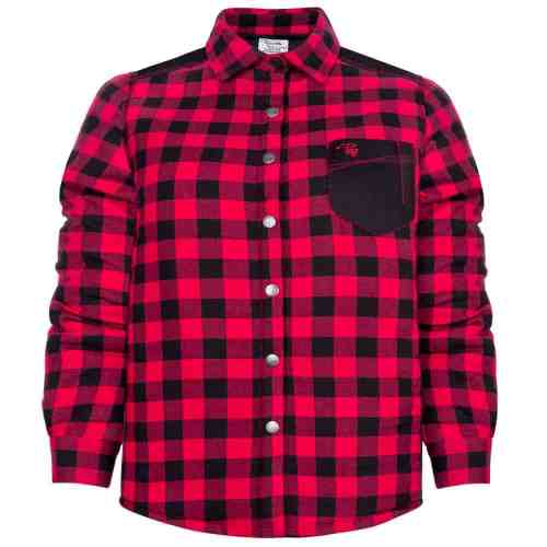 Padded plaid shirt – PF410 - Red