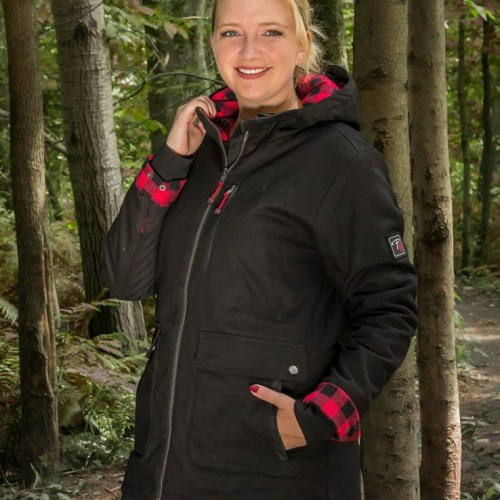 Women's stretch canvas lined parka - P&F Workwear