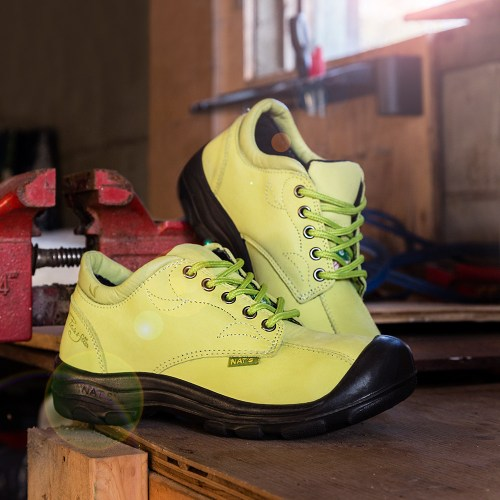 Lime yellow steel toe shoes for women | P&F Workwear