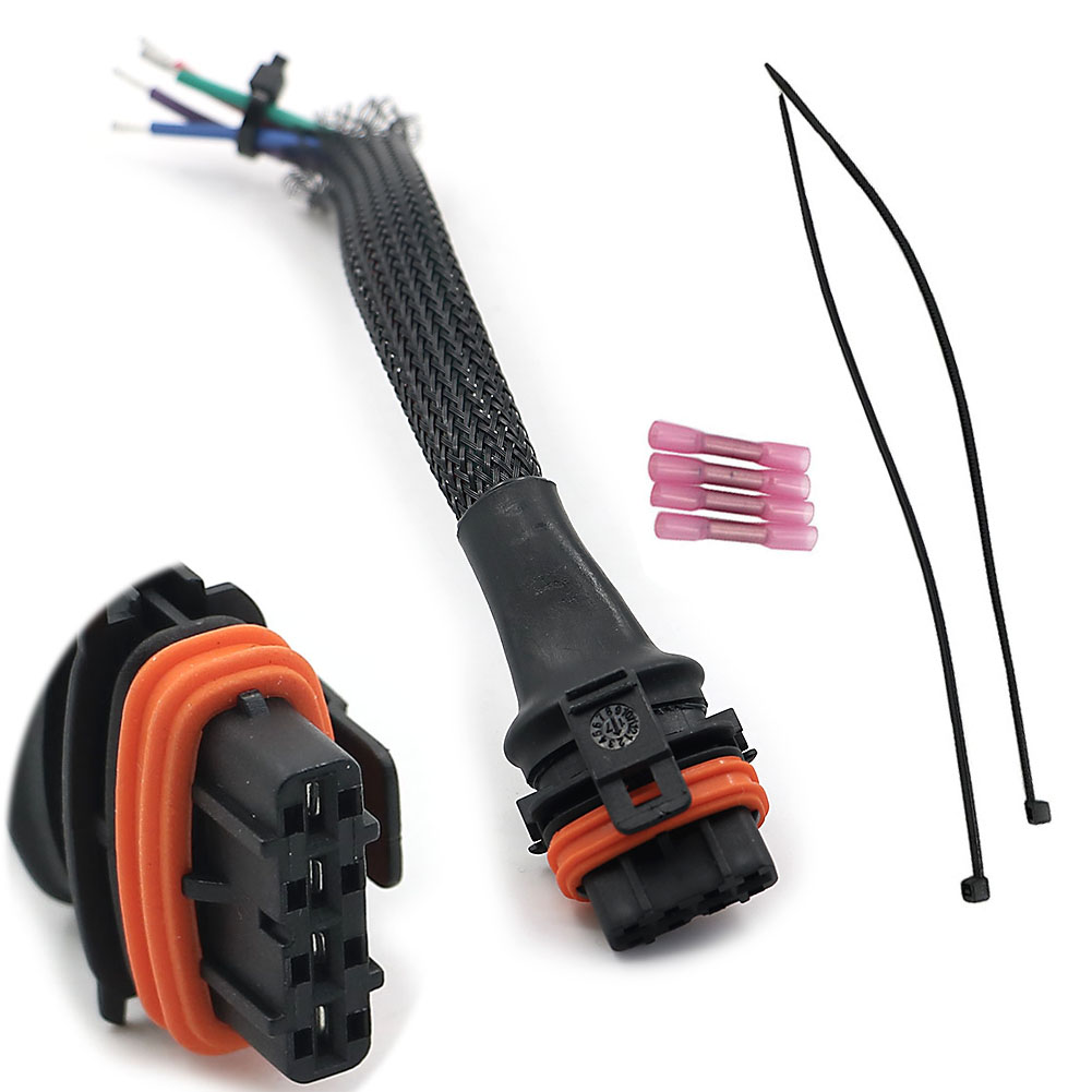 hight resolution of parts accessories polaris sportsman hi temp headlight bulb wire harness connector pigtail plug atv