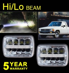 pair 7x6 sealed beams led headlight for chevy ford f550 f600 f650 f700 f750 4us [ 1000 x 1000 Pixel ]