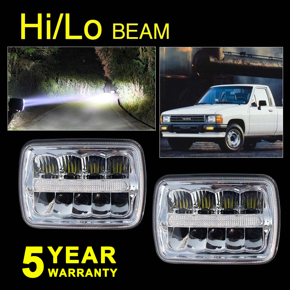 hight resolution of pair 7x6 sealed beams led headlight for chevy ford f550 f600 f650 f700 f750 4us