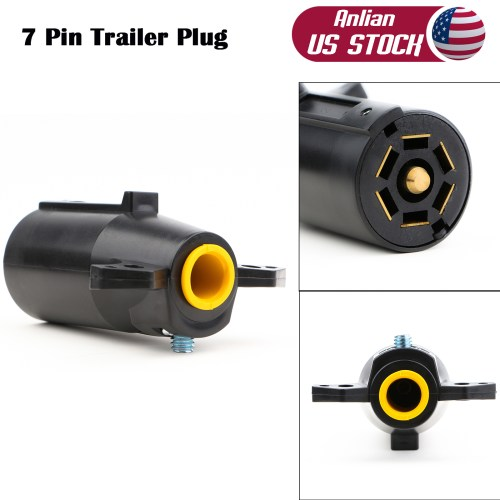 small resolution of 7 pin 7 way 12v round blade trailer plug wiring connector rv parts male adapter