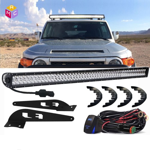small resolution of details about fits 07 14 toyota fj cruiser straig 52 led light bar mount brackets wiring