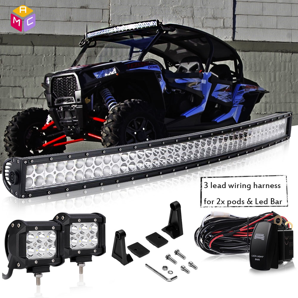 hight resolution of details about 40 led light bar 2x4 led pods fit all club car ezgo yamaha golf carts pick up