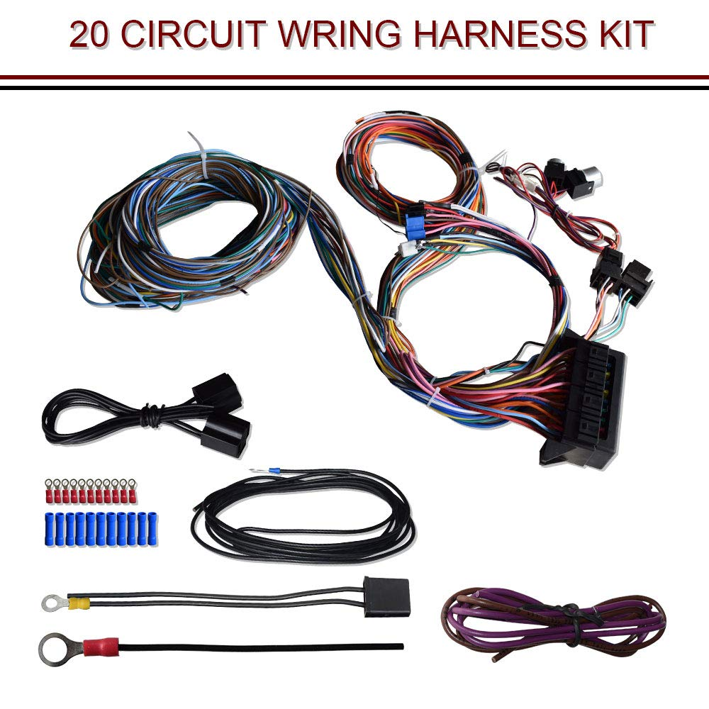 medium resolution of details about 20 circuit wiring harness hot rat rod custom universal kit for exmark tractor