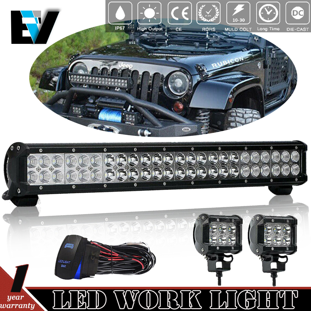 hight resolution of details about for yamaha rhino 660 700 23 led light bar w wiring pair flood pods kit