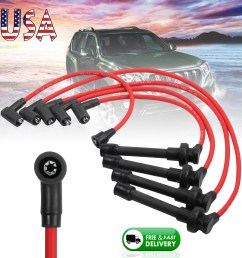 details about new spark plug ignition wire set for honda accord civic del sol92 98 core [ 1600 x 1600 Pixel ]