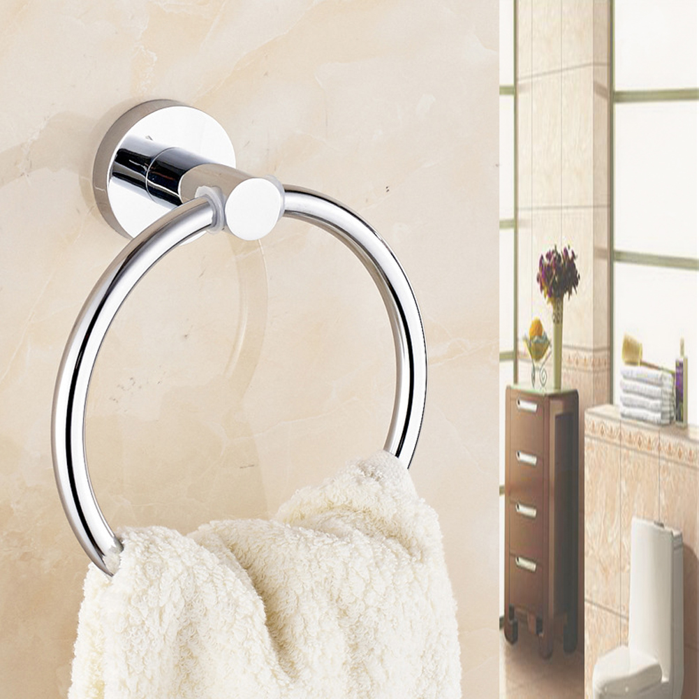 Hand Towel Holder For Bathroom Details About Chrome Round Hand Towel Holder Ring Wall Mounted For Bathroom Kitchen Uk