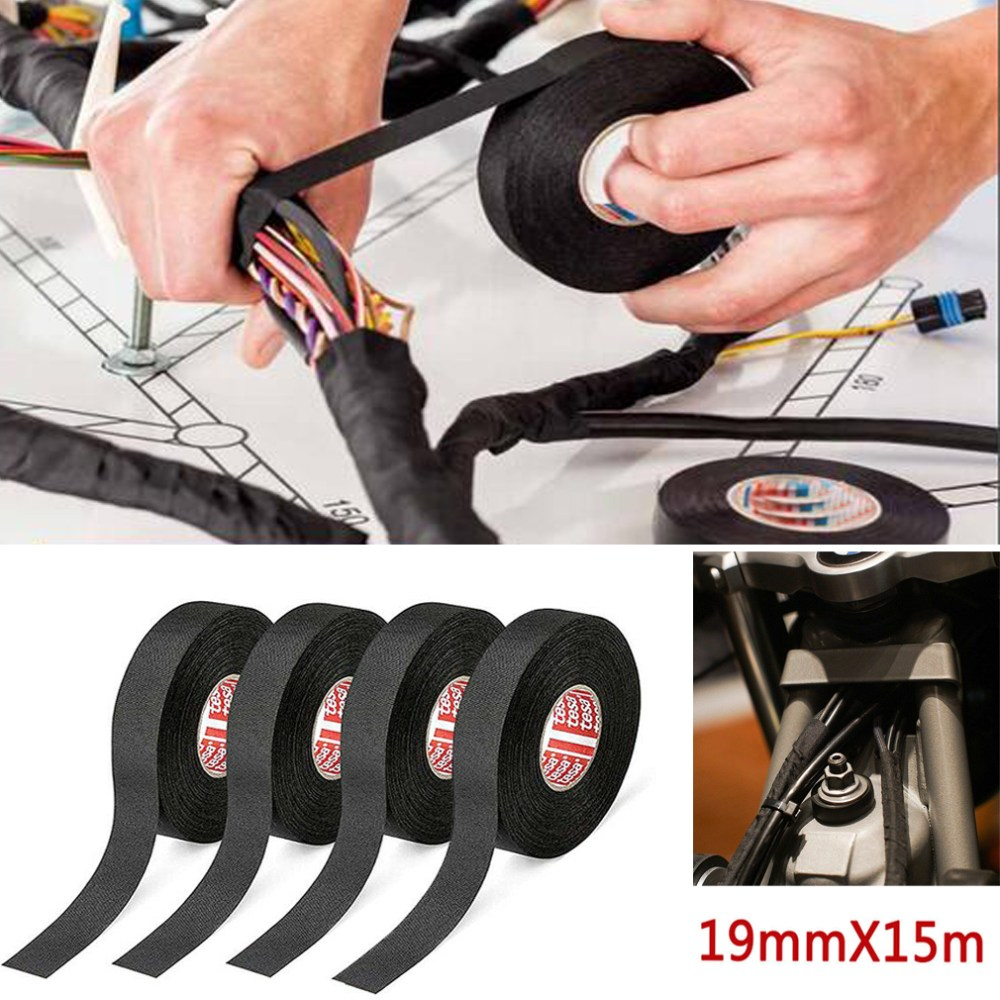 medium resolution of details about 19mmx 15m adhesive cloth fabric tape cable looms wiring harness for car auto