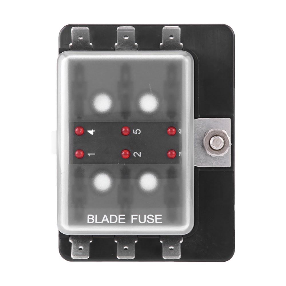 medium resolution of details about car boat 6 way dc 10v 32v blade fuse box holder with led warning light universal
