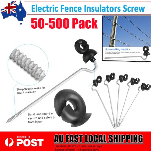 small resolution of details about 50 500 electric fence timber wood post insulators screw in offset poly wire tape