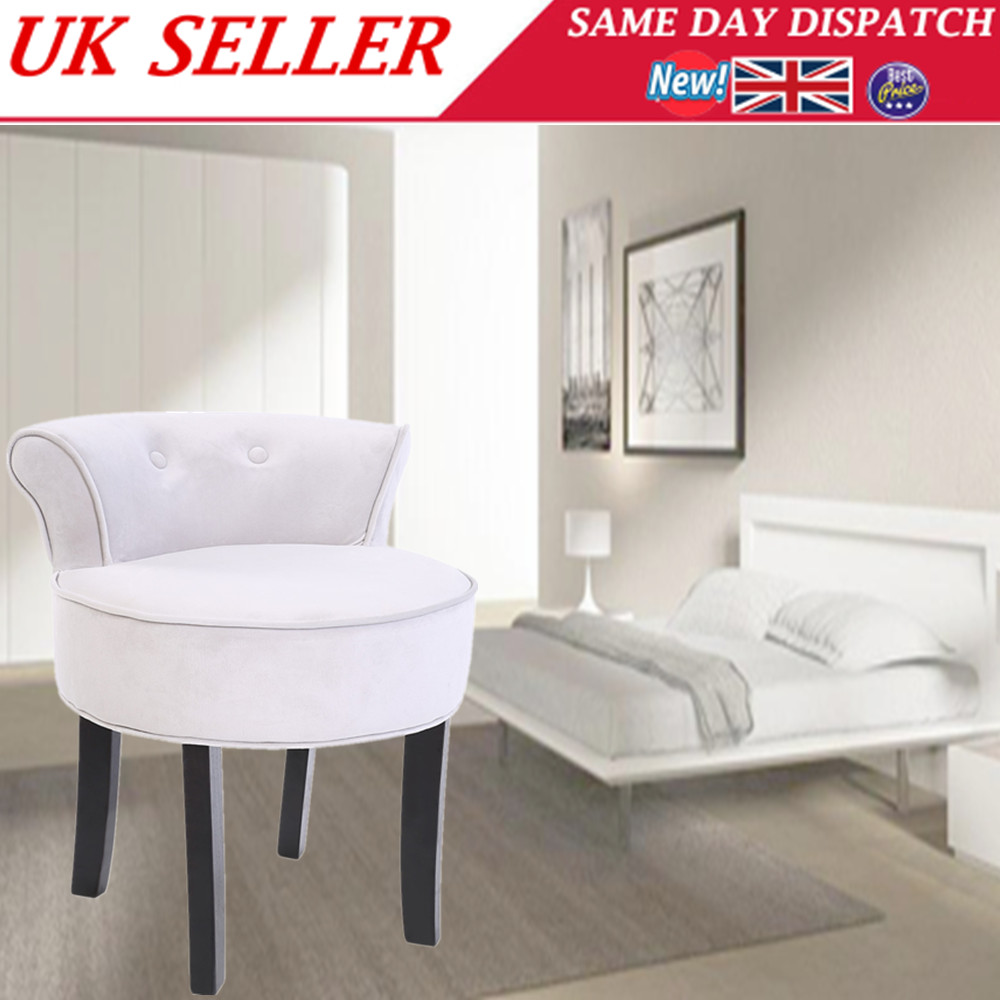 Makeup Table Chair Details About Dressing Table Makeup Stool Chenille Vanity Chair Tub Grey Black Legs Home Seat