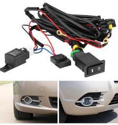details about universal wiring kit led fog light driving lamp wiring harness fuse switch relay [ 1001 x 1001 Pixel ]