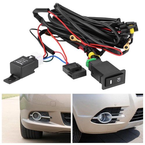 small resolution of universal wiring kit led fog light driving lamp wiring harness fuse automotive fog light wiring harness switch universal automotive fog