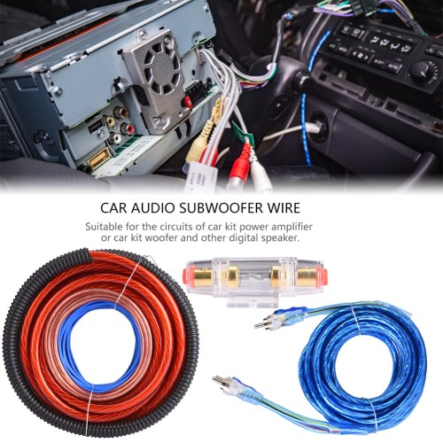 small resolution of details about 4 gauge car audio speaker subwoofer amplifier amp wire kit power cable 2800w new