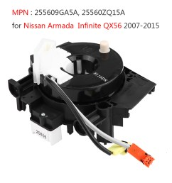 details about clock spring spiral cable 255609ga5a for nissan armada infiniti qx56 5 6l 07 15 [ 1001 x 1001 Pixel ]