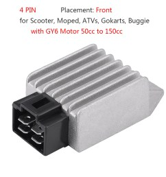 details about 12v 4pin motorcycle atv voltage regulator rectifier for gy6 motor 50cc to 150cc [ 1001 x 1001 Pixel ]